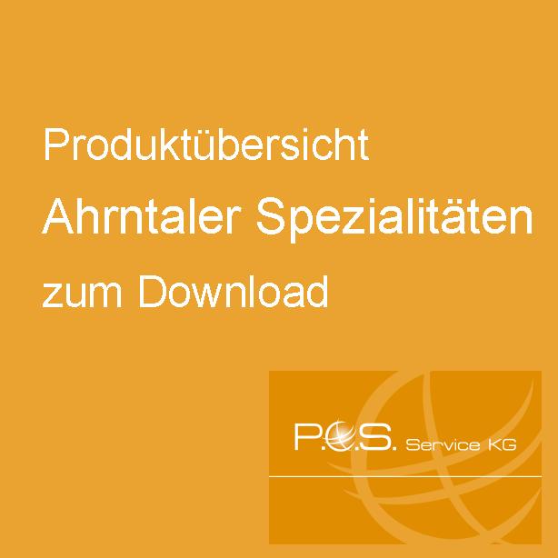 Produktübersicht Ahrntaler Spezialitäten zum Download